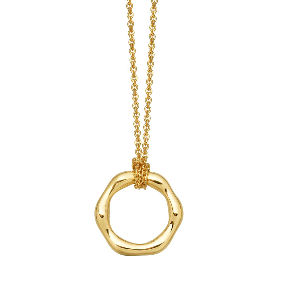 Missoma Mini Molten Ring Pendant Necklace