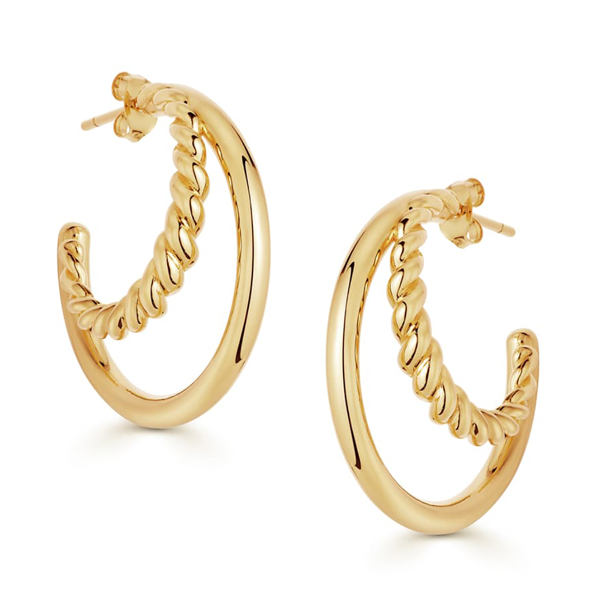 Radial Hoop Earrings