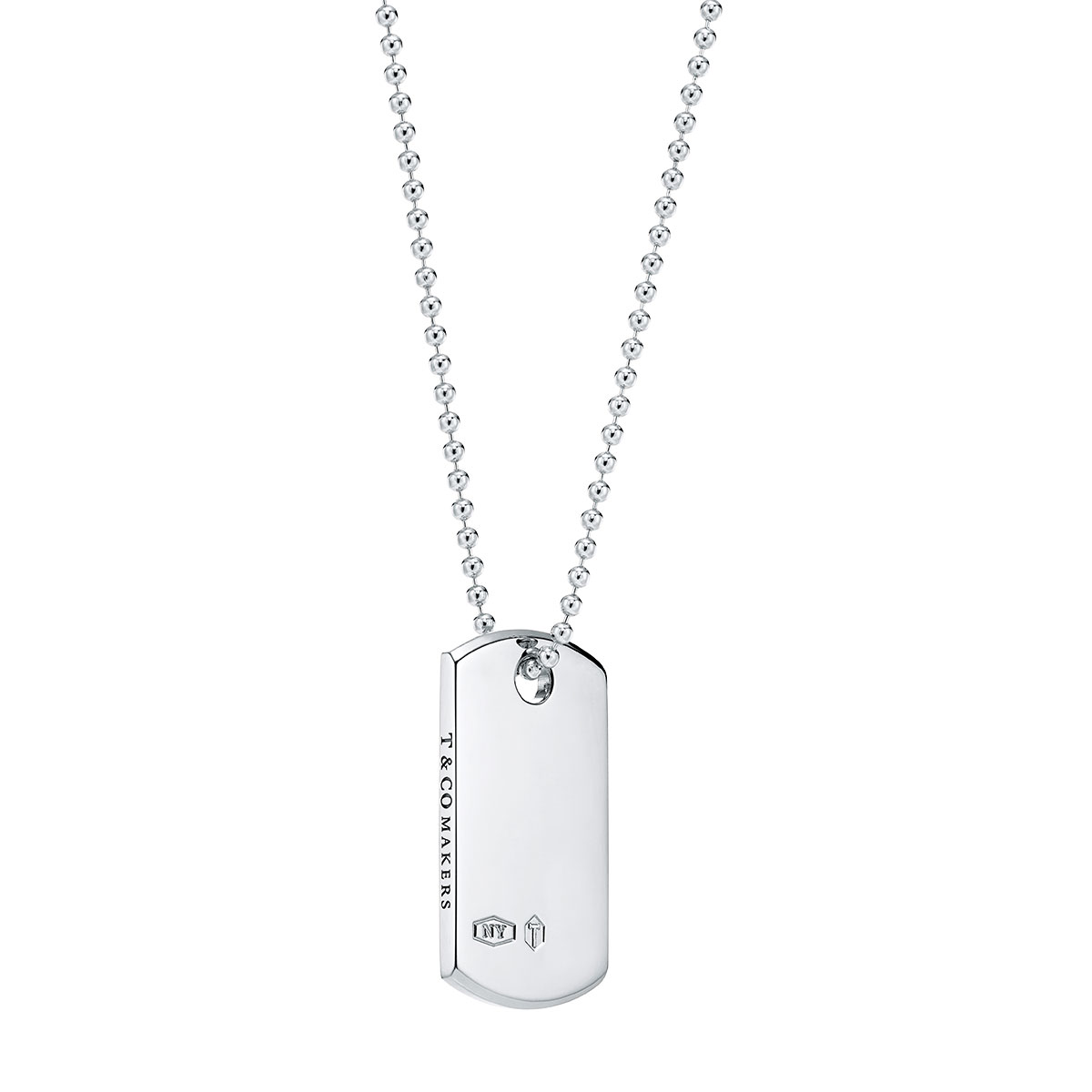 Tiffany 1837 I.D. Tag Pendant in Sterling Silver
