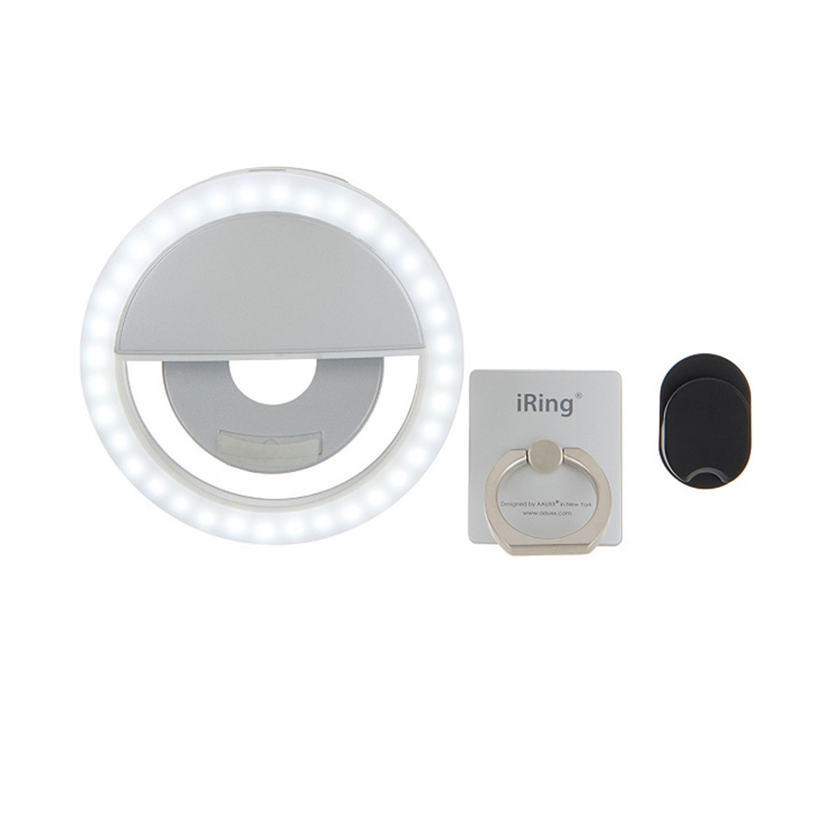 Picture Perfect Selfie Set w/ iRing Phone Stand & iSelfie Light