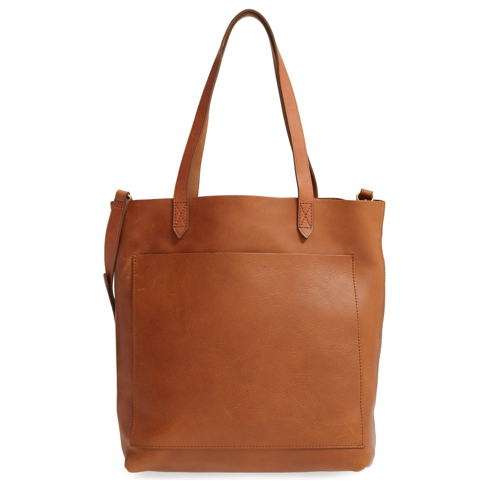 Madewell Medium Leather Transport Tote Tan