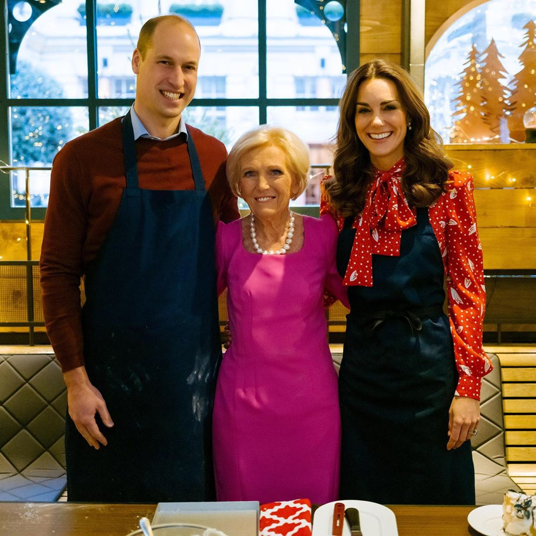 Kate Middleton, Prince William, and Mary Berry