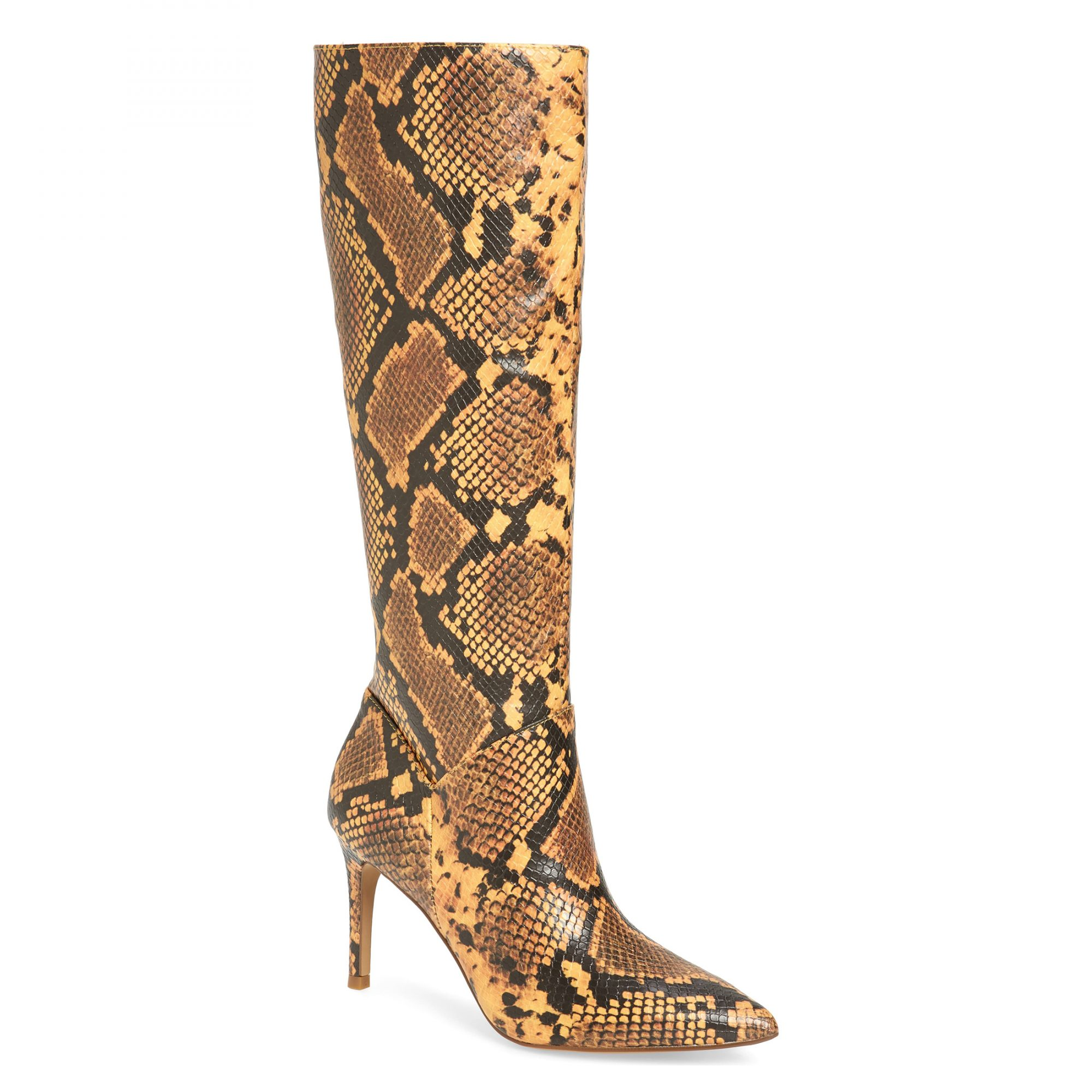 Steve Madden Kinga Knee High Boot in Yellow Snake