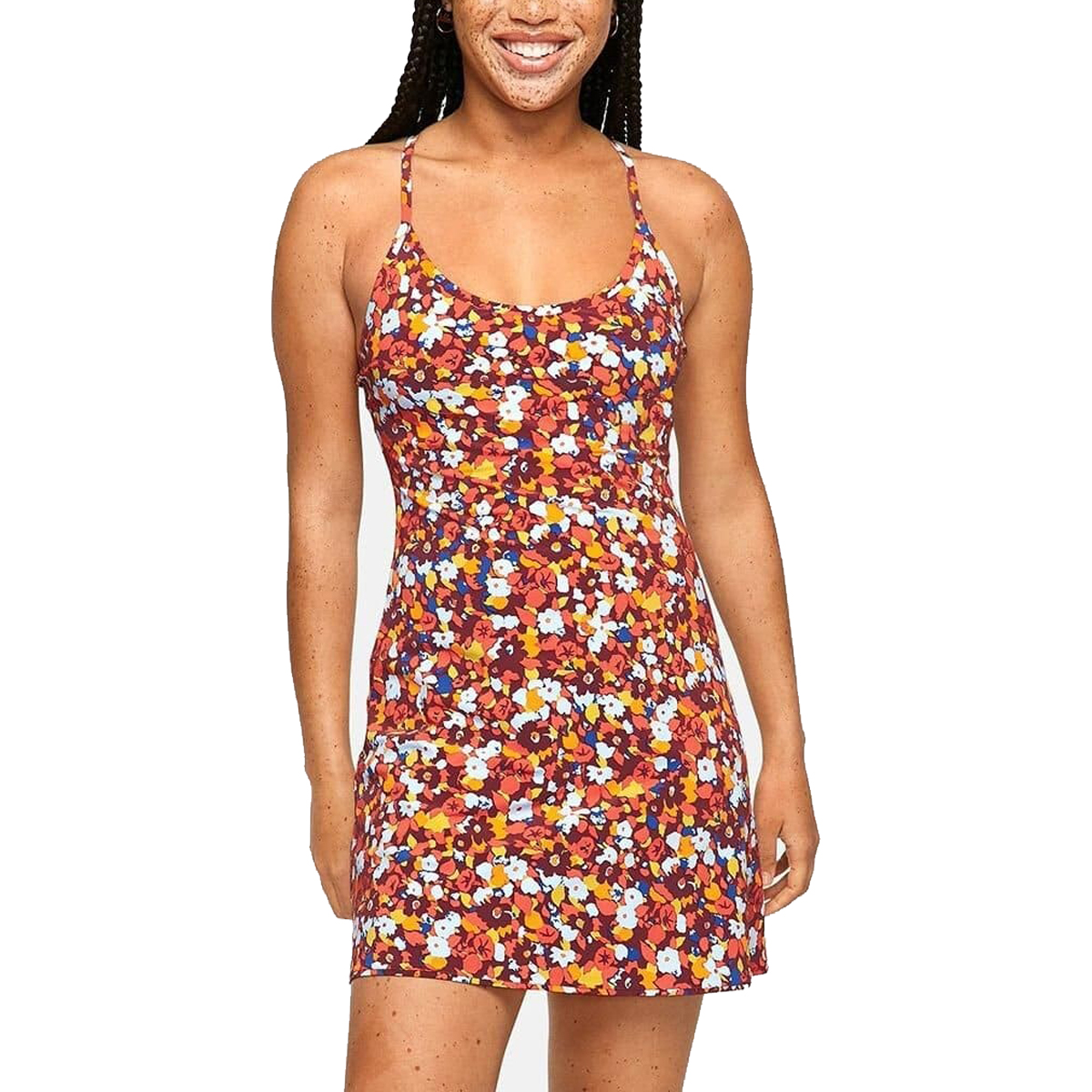 Outdoor Voices The Exercise Dress in Paprika Blooms