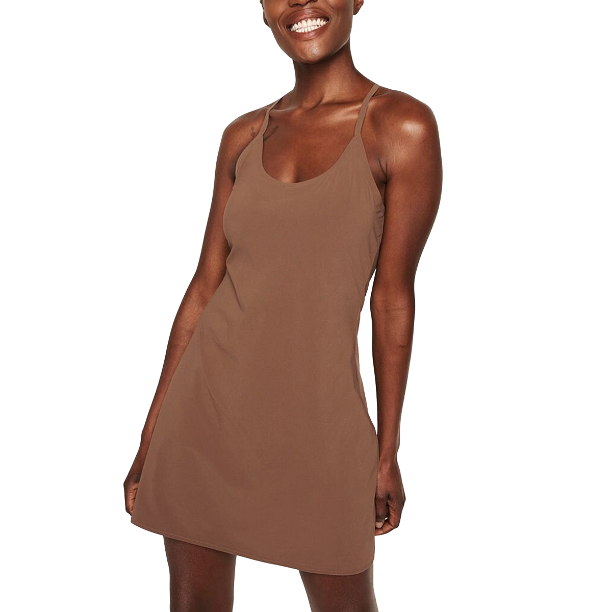 Outdoor Voices The Exercise Dress in Cocoa