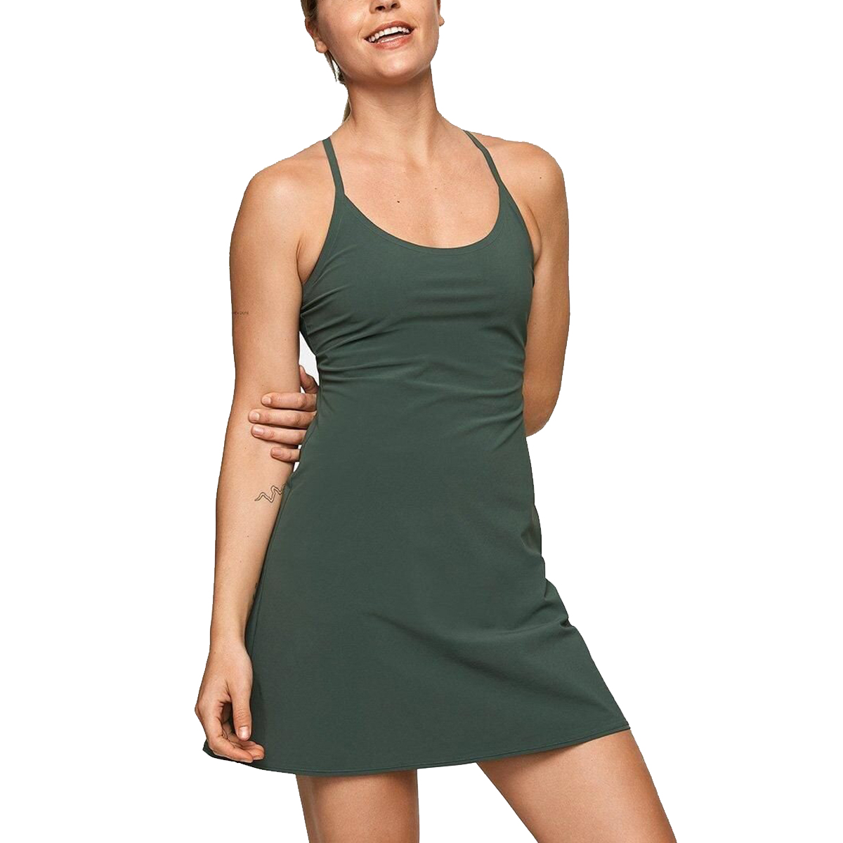 Outdoor Voices The Exercise Dress in Evergreen