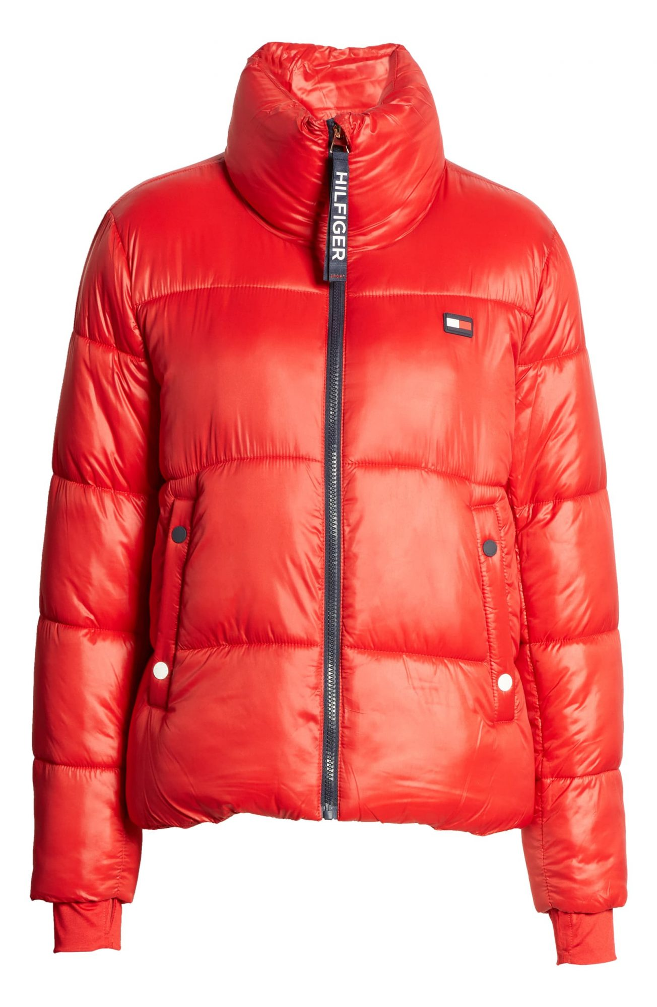 Tommy Hilfiger Red Puffer Jacket