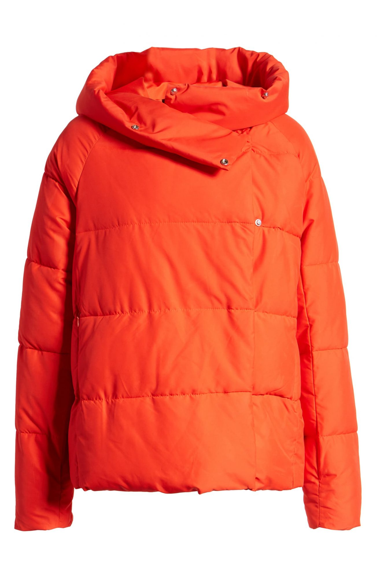 Only June Red Puffer Jacket
