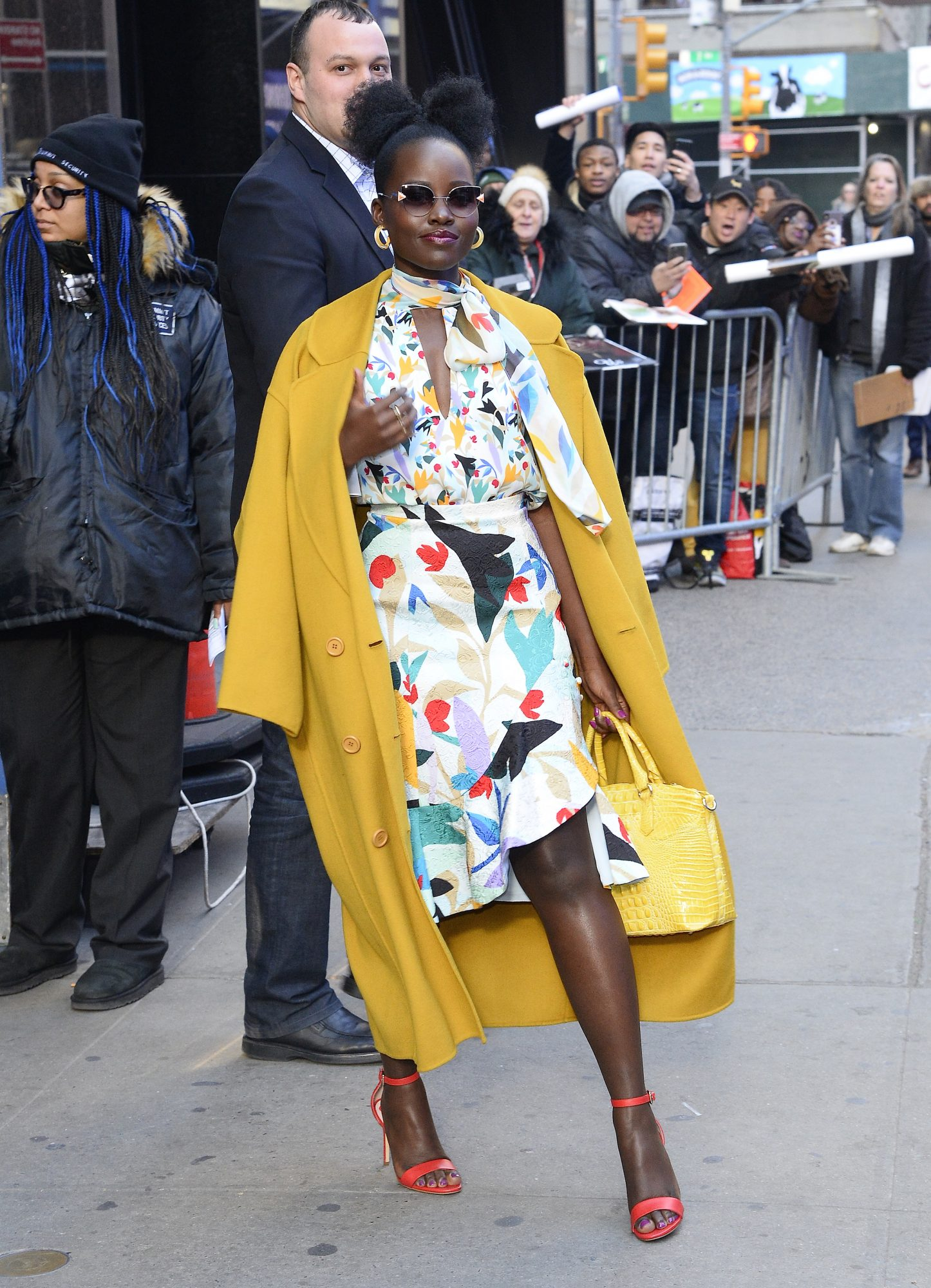 Lupita Nyong'o Carries Brahmin Bag