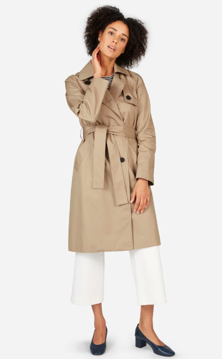Angelina Jolie's Everlane Drape Trench Coat