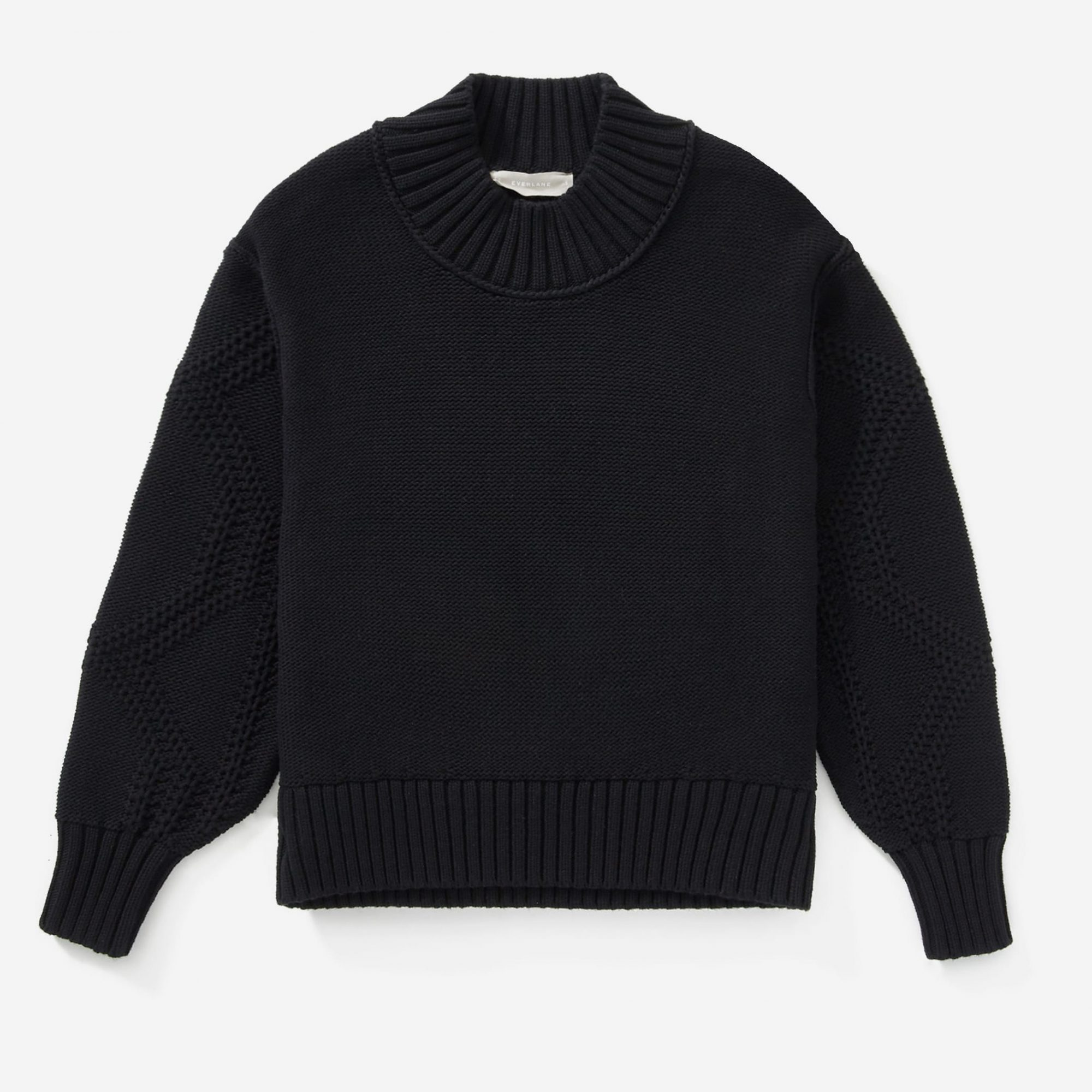 Everlane Texture Cotton Cable Sweater