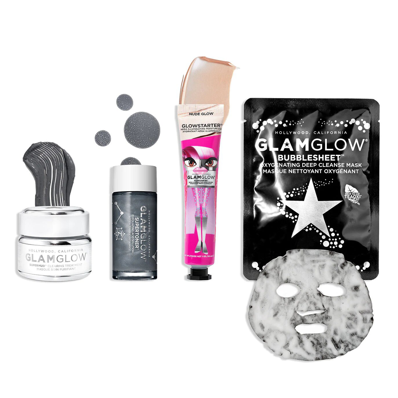 SuperMud Super Clear Pore Clarifying Skin Set GLAMGLOW