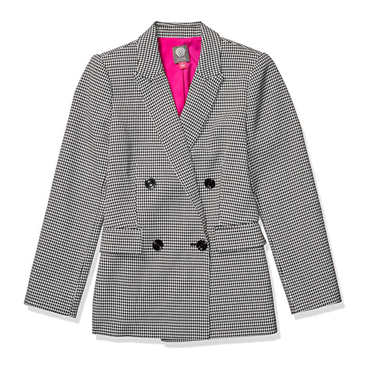 Vince Camuto Houndstooth Double-Breasted Jacket