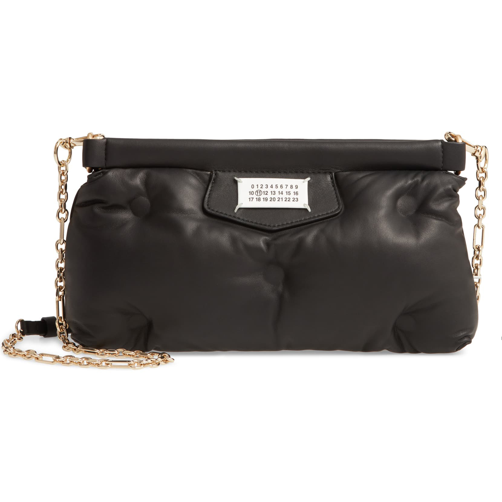 Maison Margiela Glam Slam Plush Leather Clutch