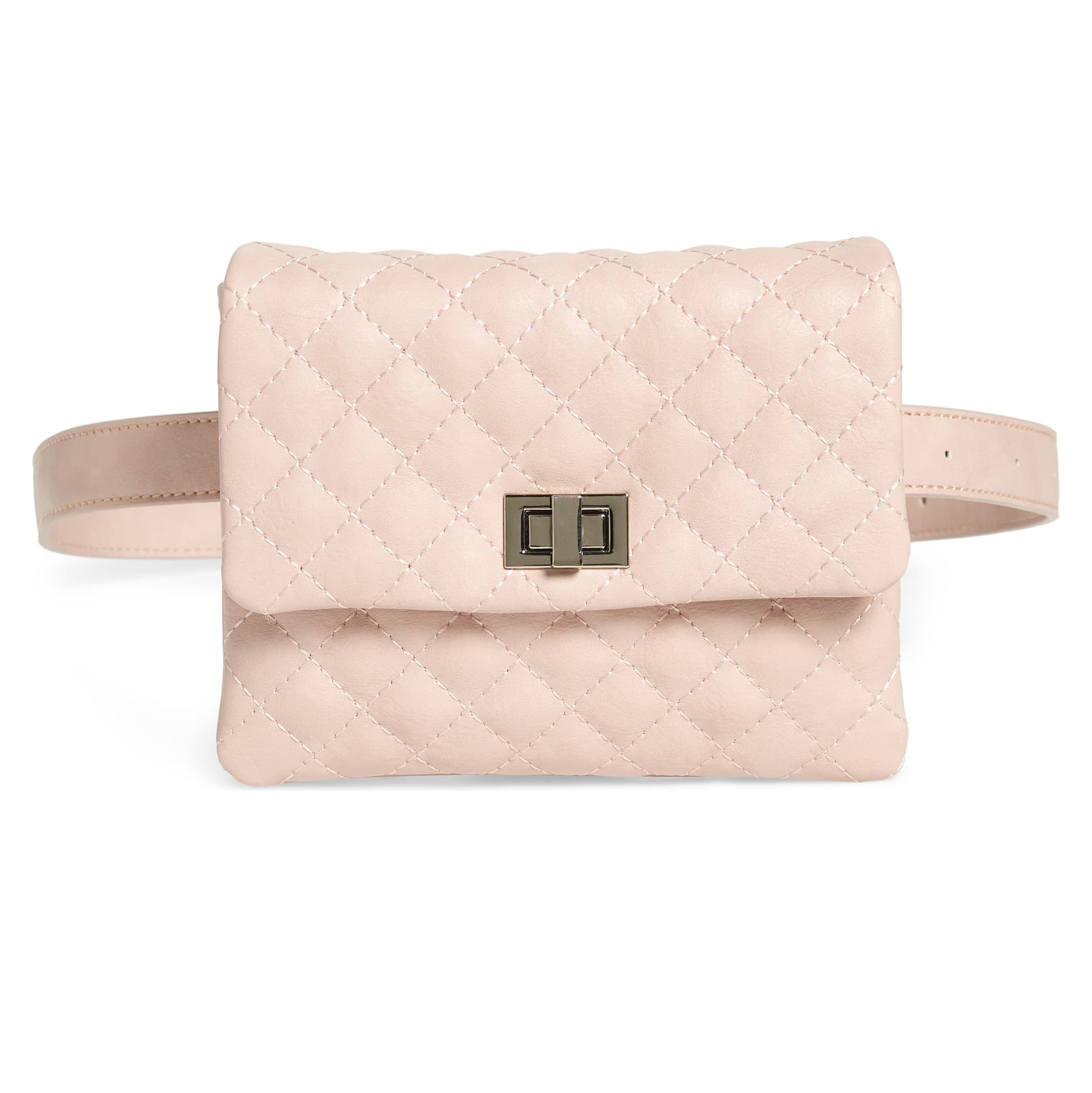 Mali + Lili Quilted Vegan Leather Belt Bag