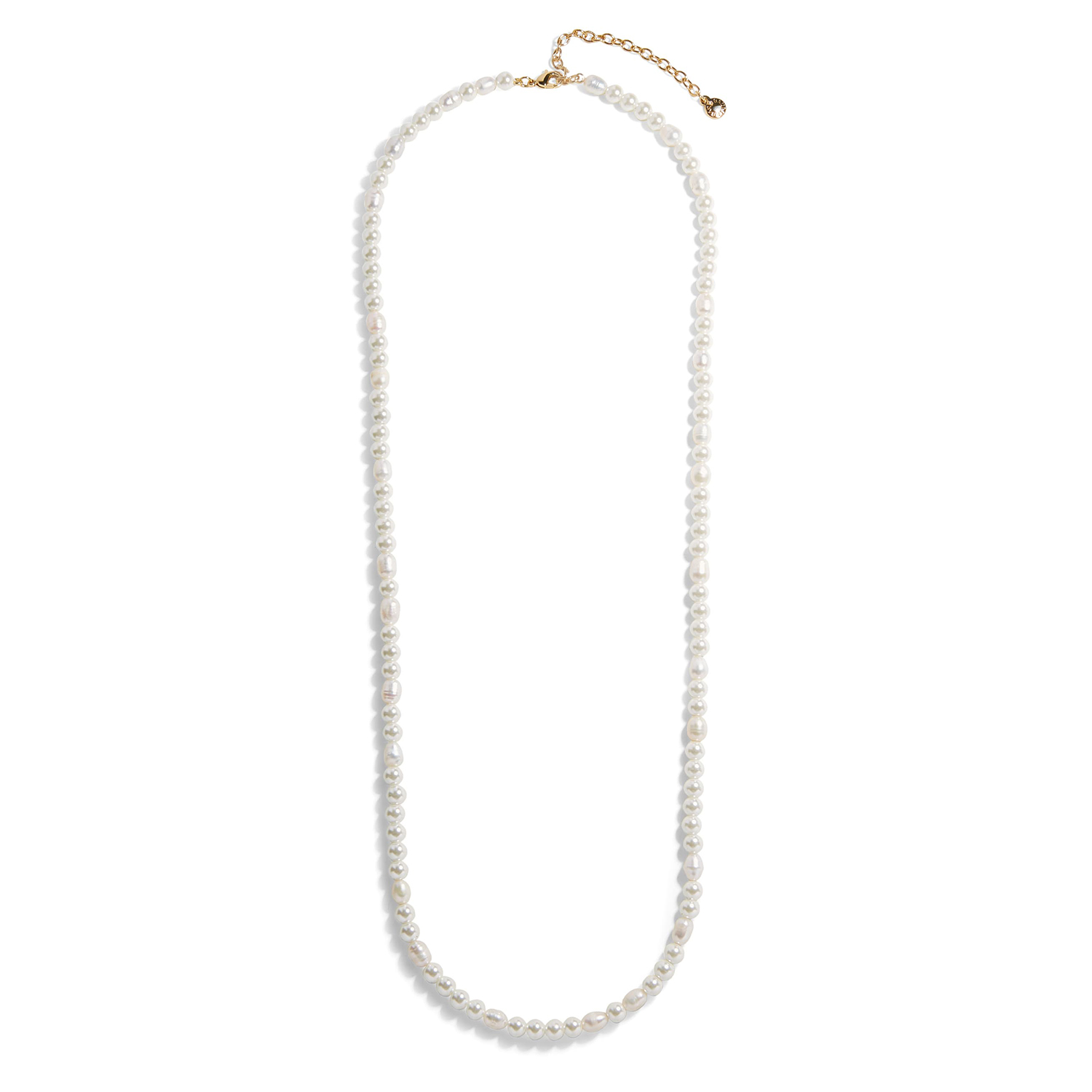 BaubleBar Long Freshwater & Imitation Pearl Necklace