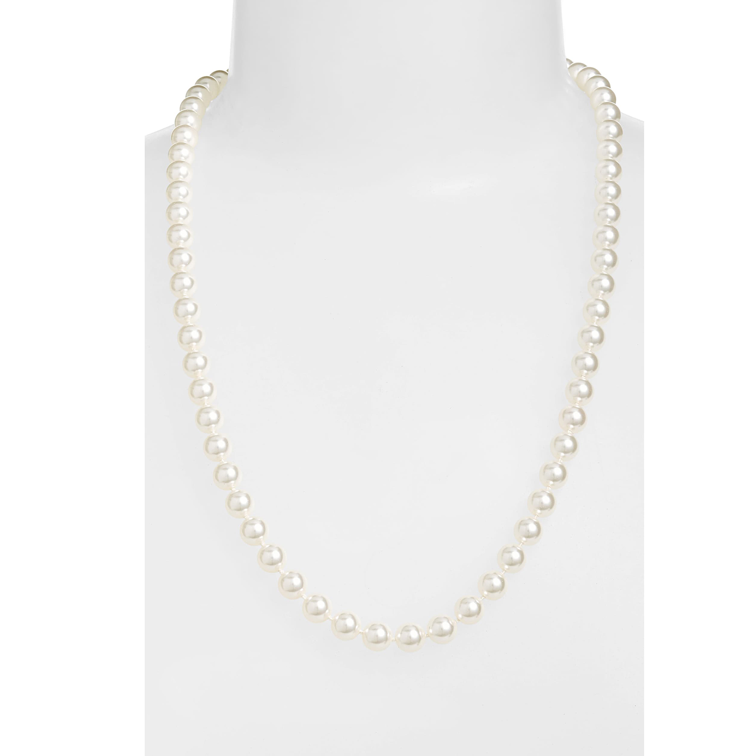 Nadri 24-Inch Glass Pearl Strand Necklace