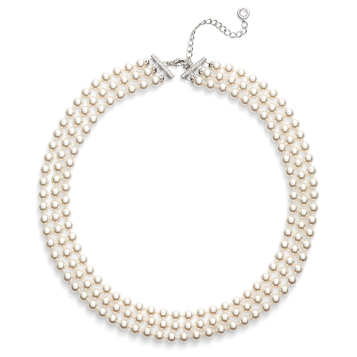 Nadri Multistrand Imitation Pearl Necklace