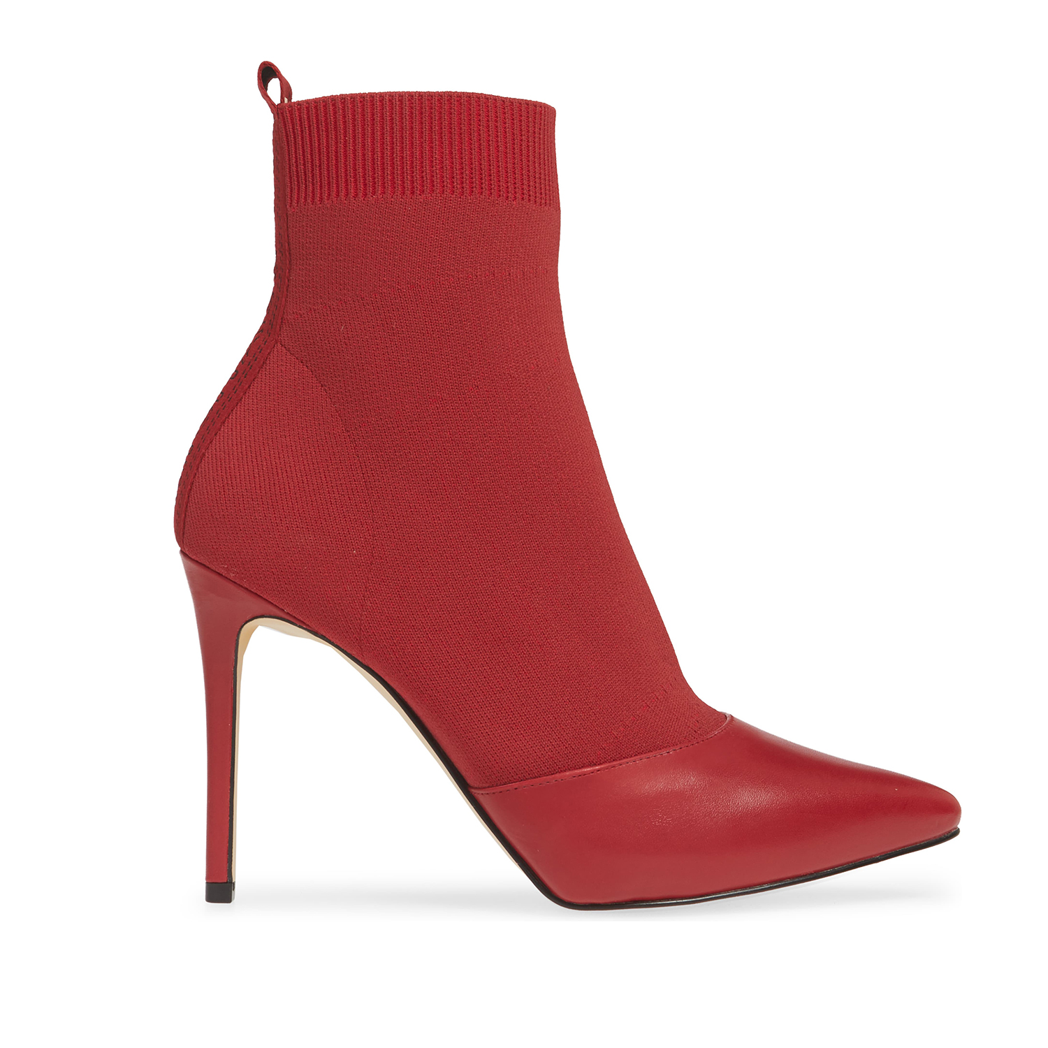 Michael Kors Vicky Bootie Scarlet Fabric Leather