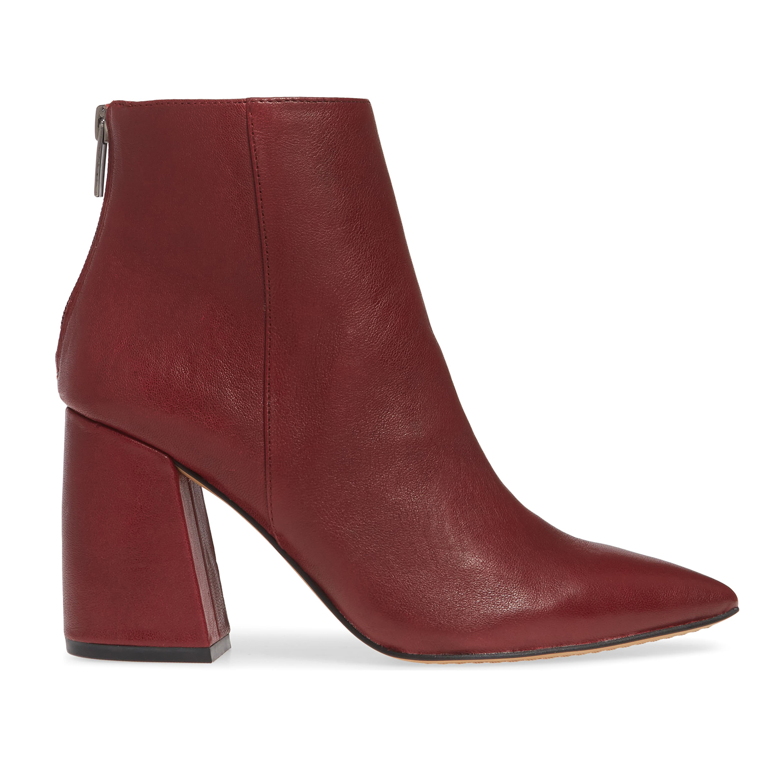 Vince Camuto Benedie Pointed Toe Bootie Beaujolais Leather