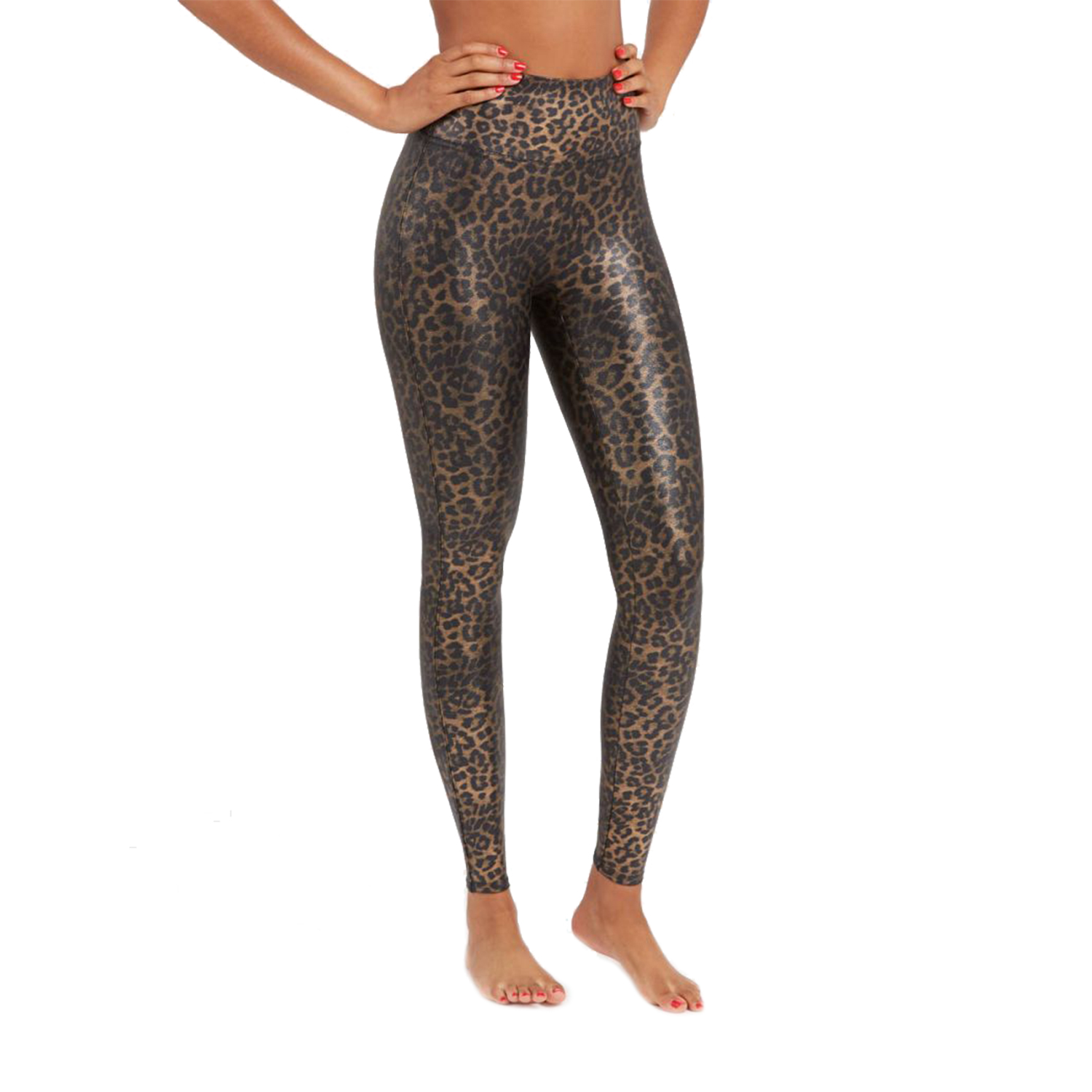 Women's High-Waisted Leopard Leggings