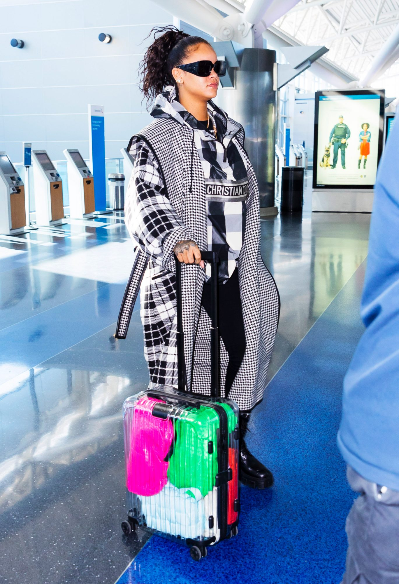 Rihanna's Rimowa x Off-White Bag Filled with Bottega Veneta