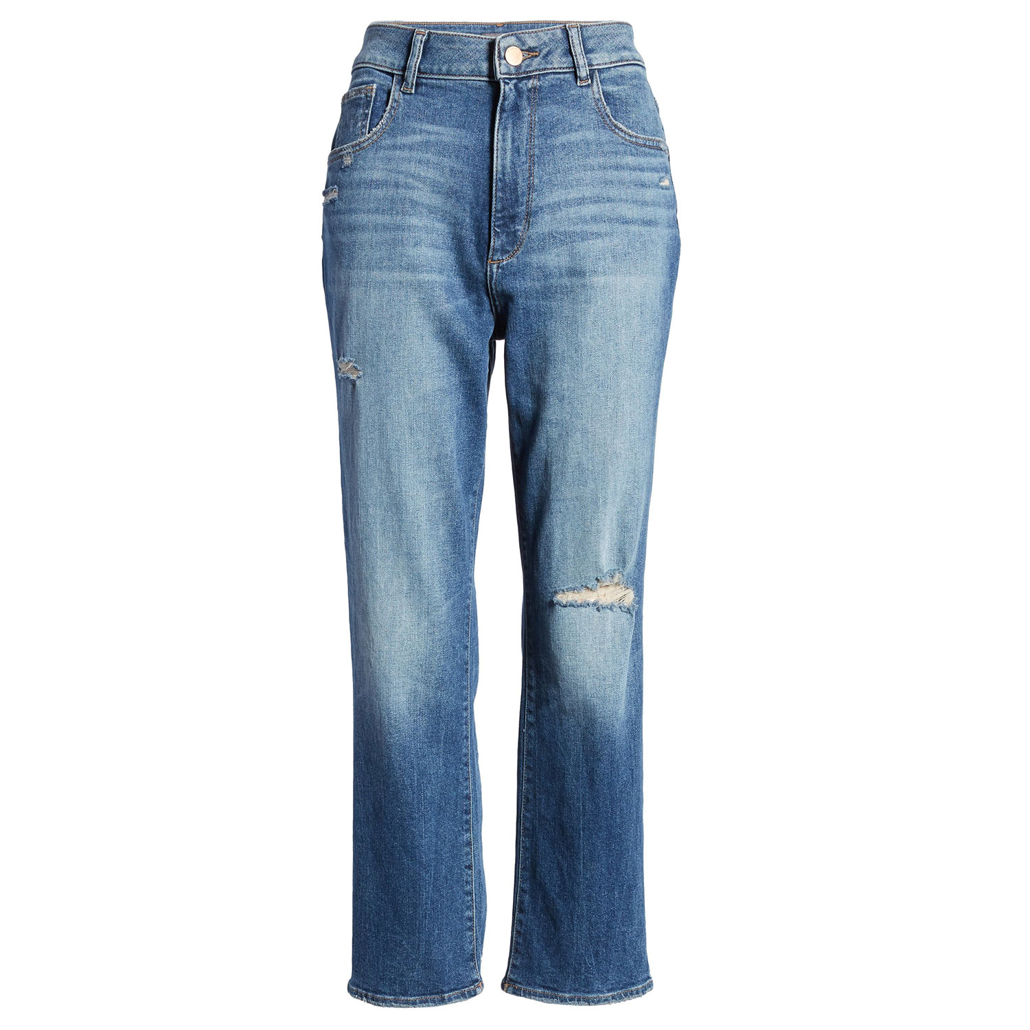 Jerry High Waist Ankle Straight Leg Jeans Edmund
