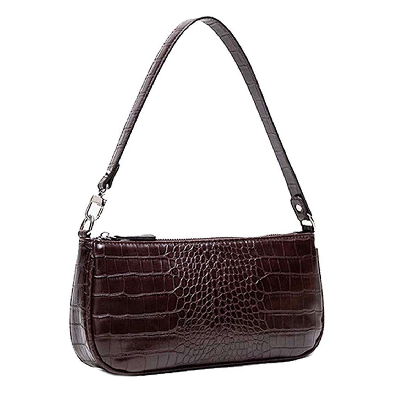 Barabum Retro Classic Crocodile Pattern Clutch Coffee