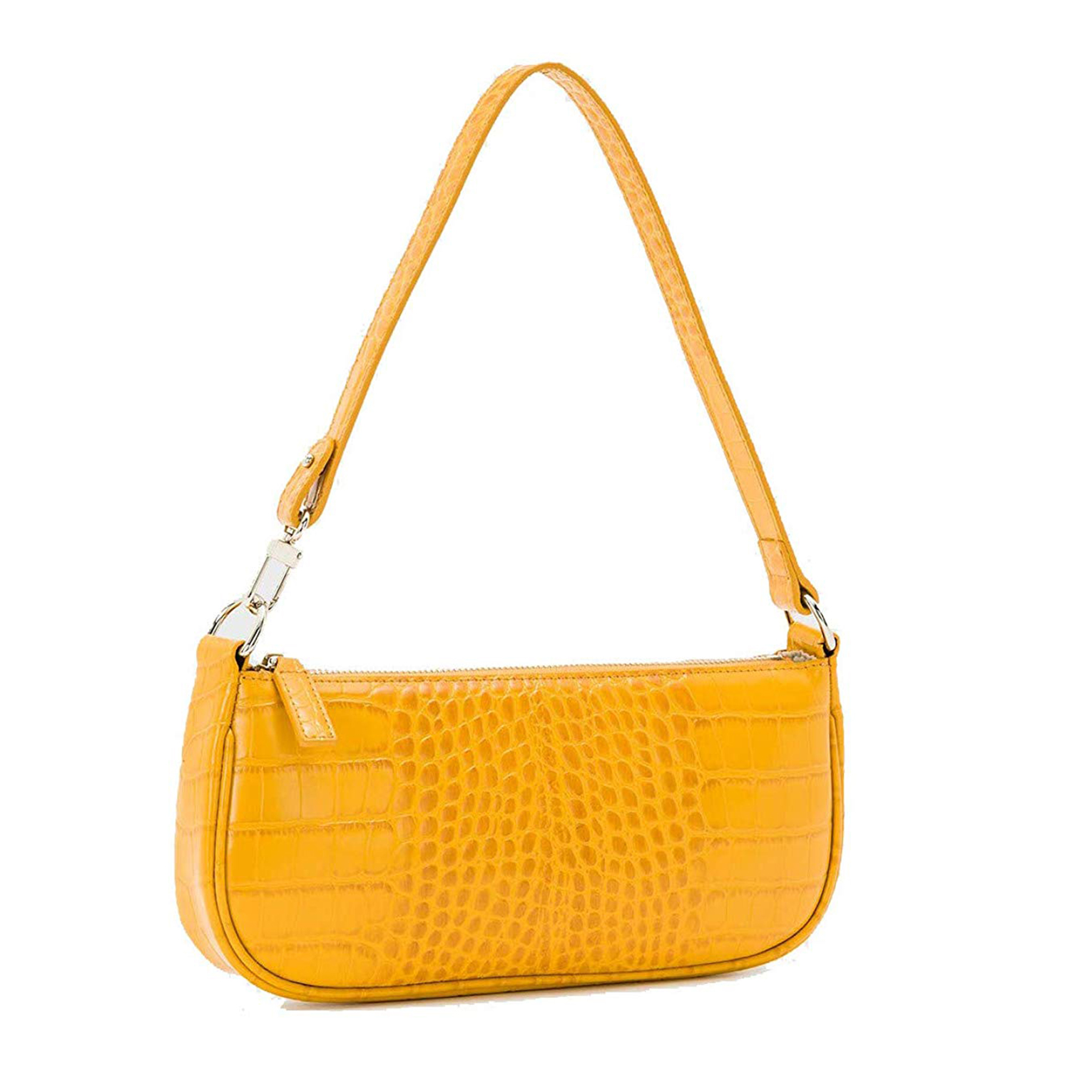 Barabum Retro Classic Crocodile Pattern Clutch Yellow