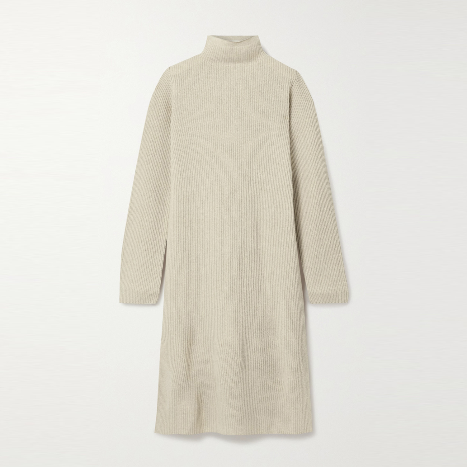 Moa Ribbed Wool and Cashmere-blend Turtleneck Midi Dress