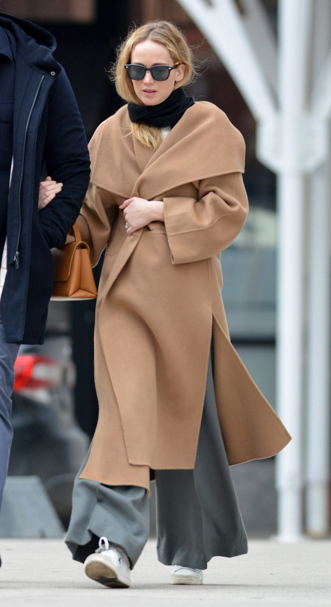Jennifer Lawrence Wears Toteme Trench Coat