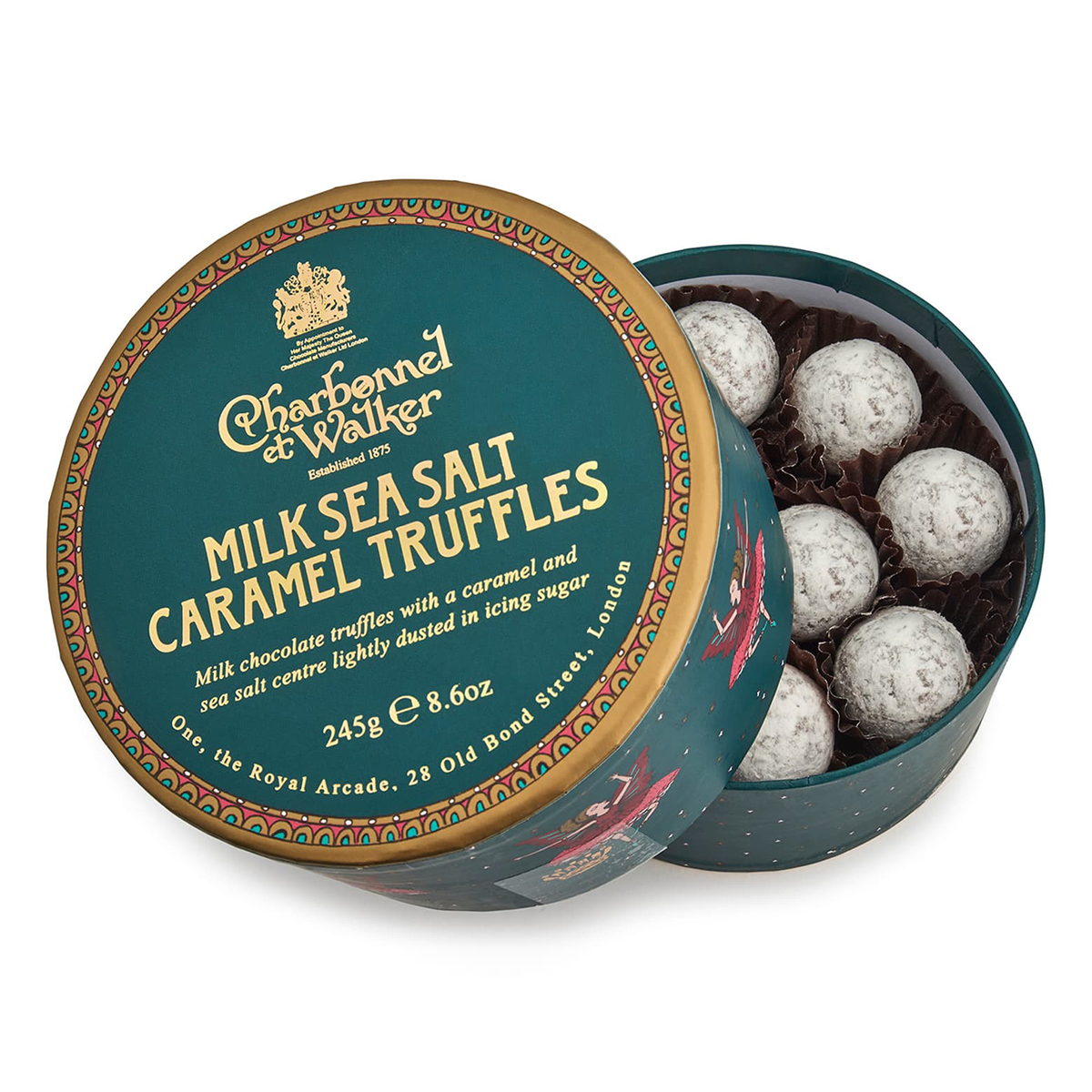 CHARBONNEL ET WALKER Sea Salt Caramel Milk Chocolate Truffles in Gift Box