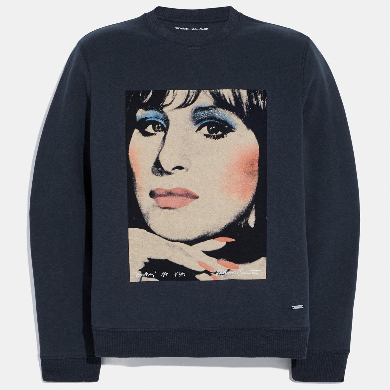 COACH X Richard Bernstein Sweatshirt With Barbra Streisand Black