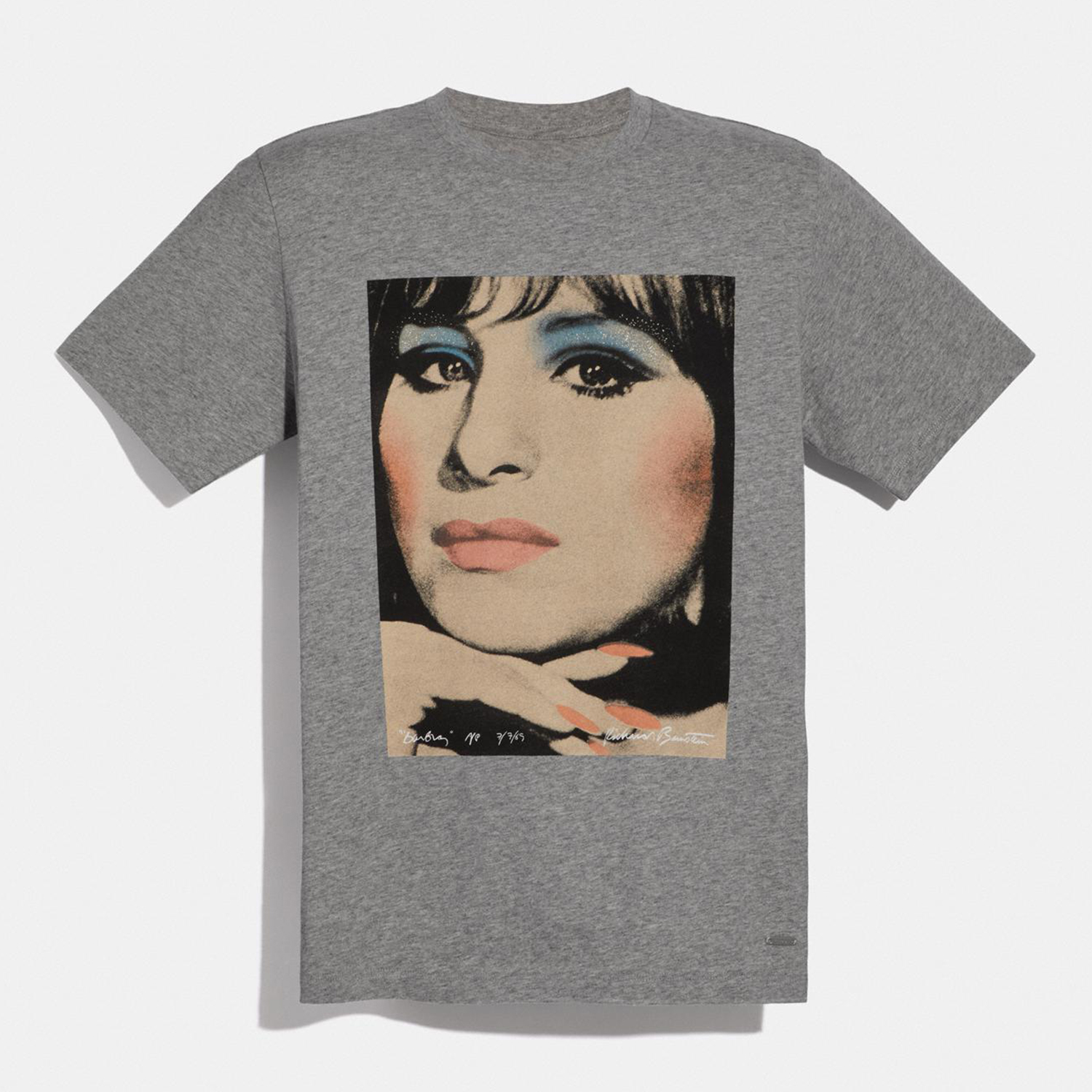 COACH X Richard Bernstein T-shirt With Barbra Streisand Light Heather Grey