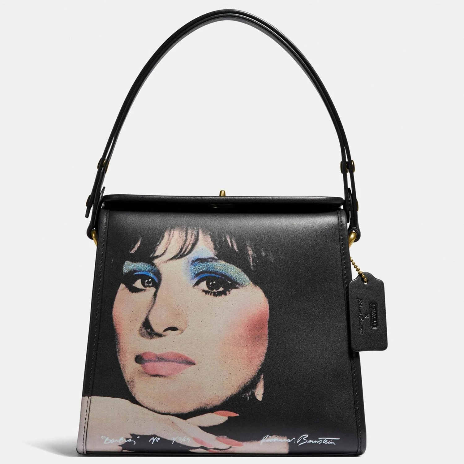 COACH X Richard Bernstein Turnlock Shoulder Bag Barbra Streisand