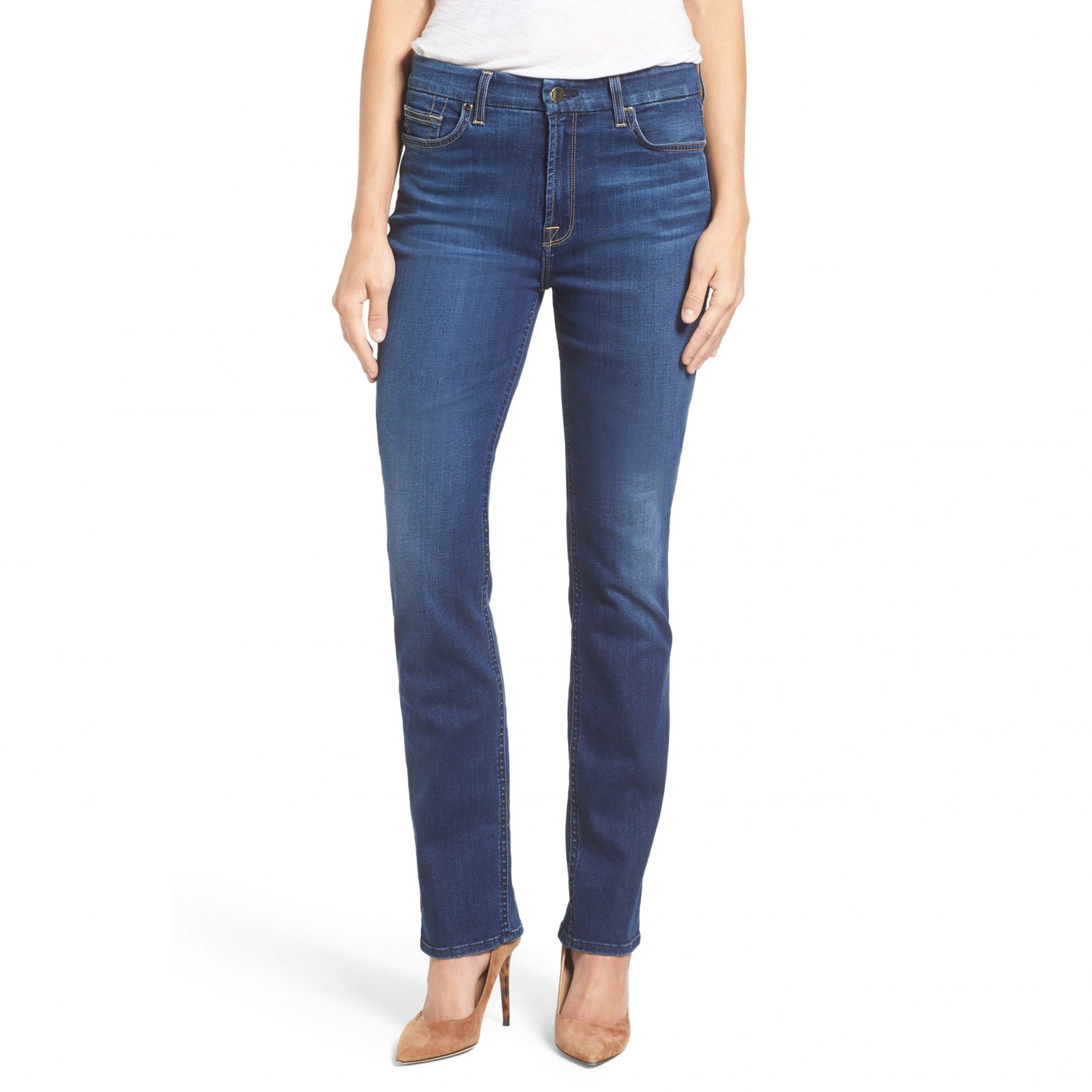 JEN7 by 7 For All Mankind Stretch Slim Straight Jeans