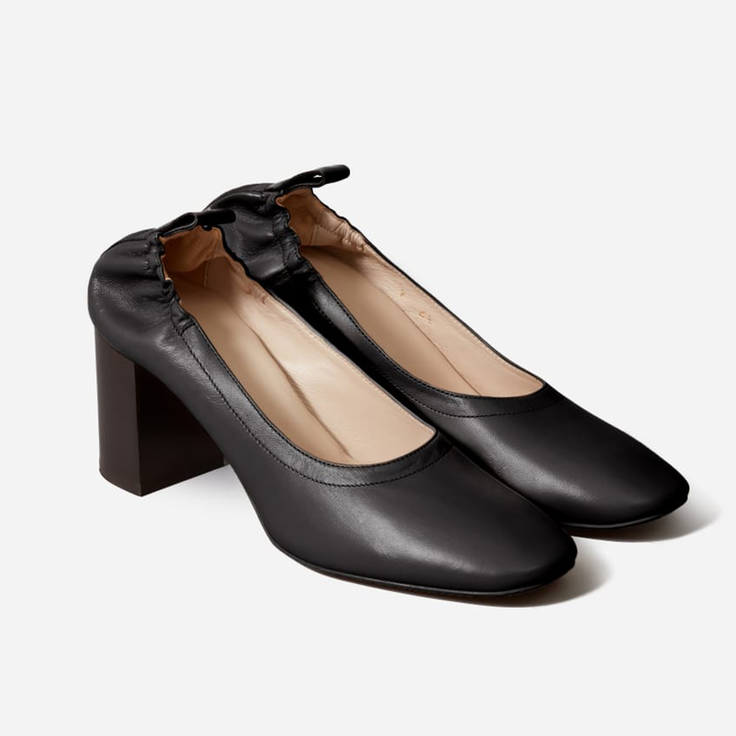 Everlane The Day High Heel Black Stack