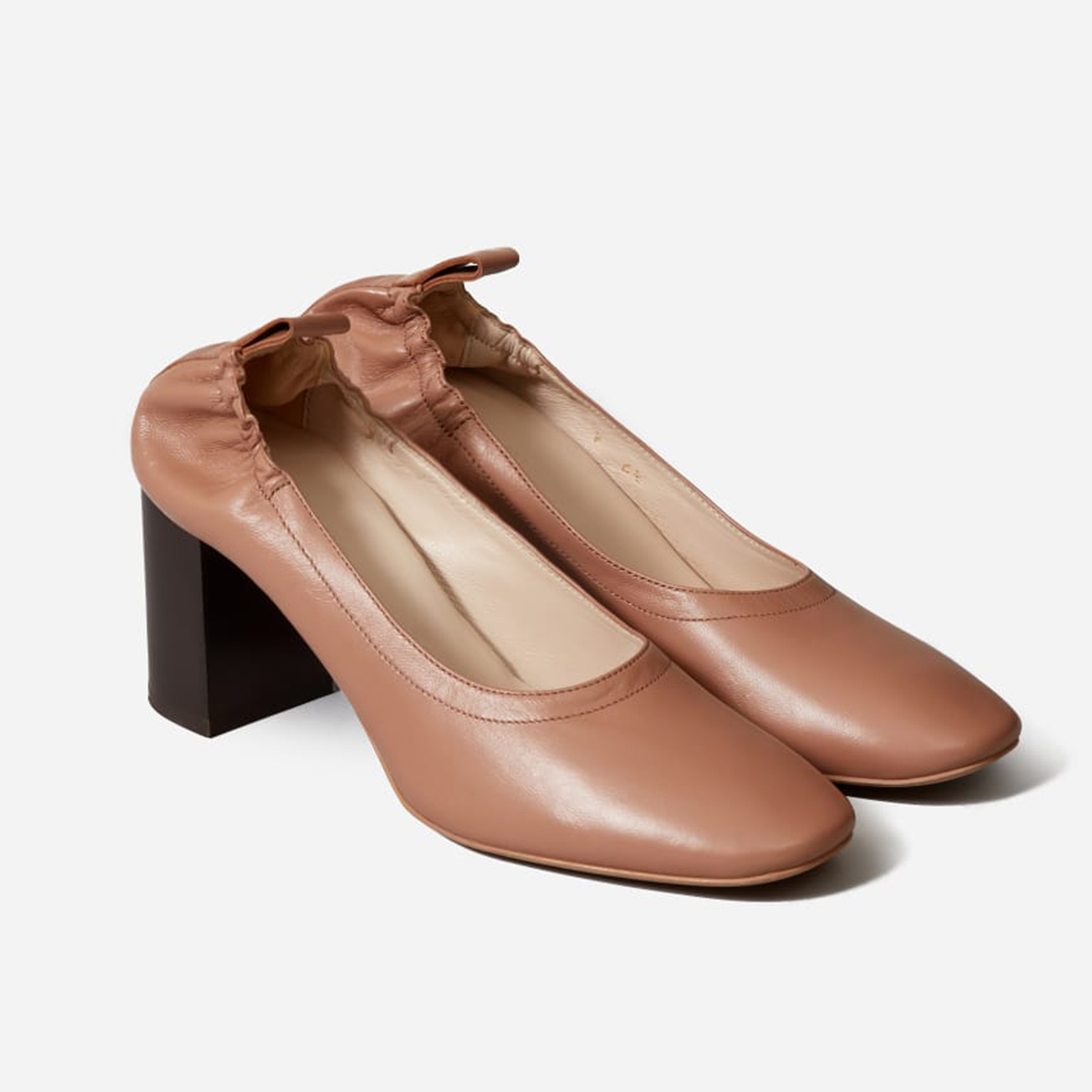 Everlane The Day High Heel Pecan Stack