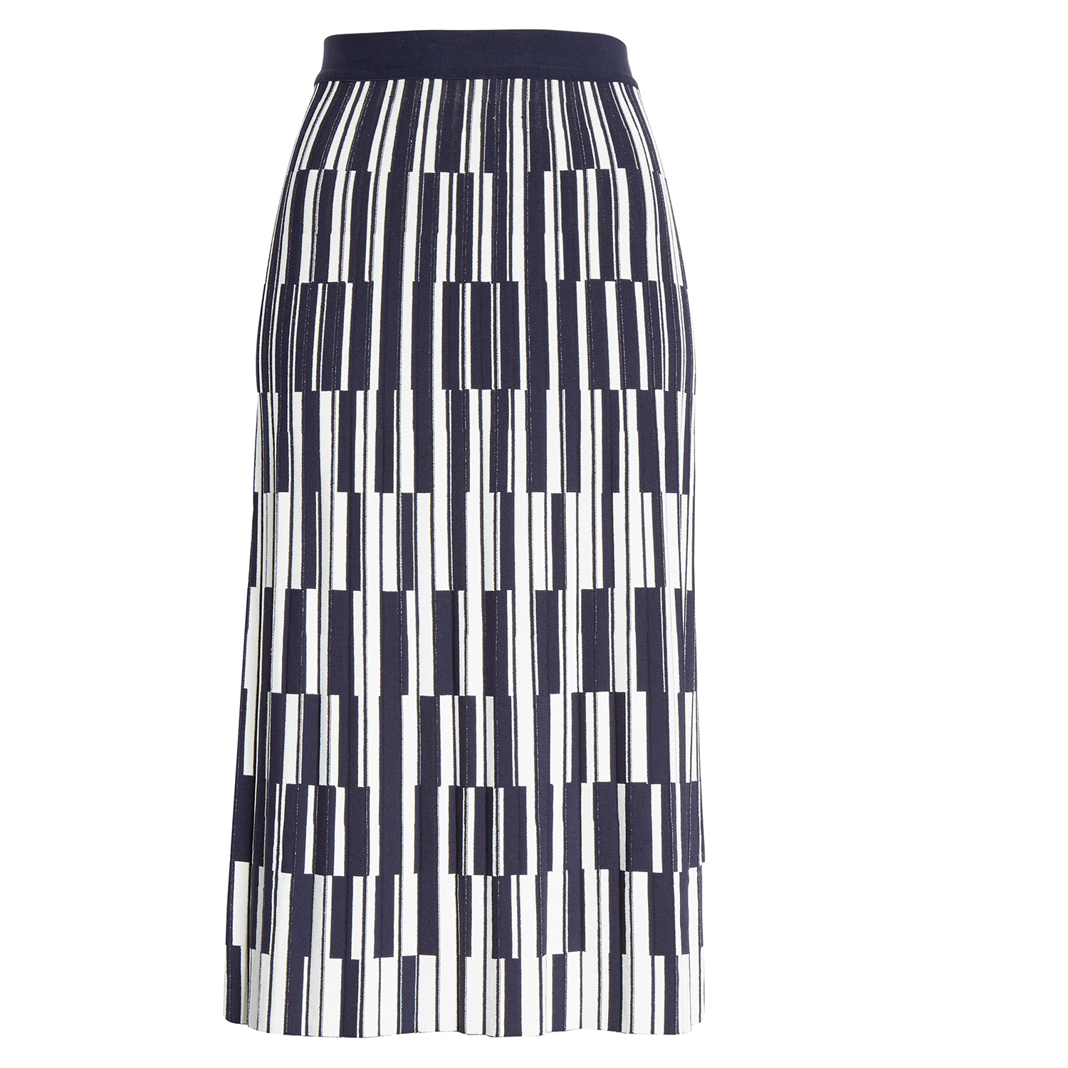 Tory Sport Motley Check Pleated Tech Knit Skirt