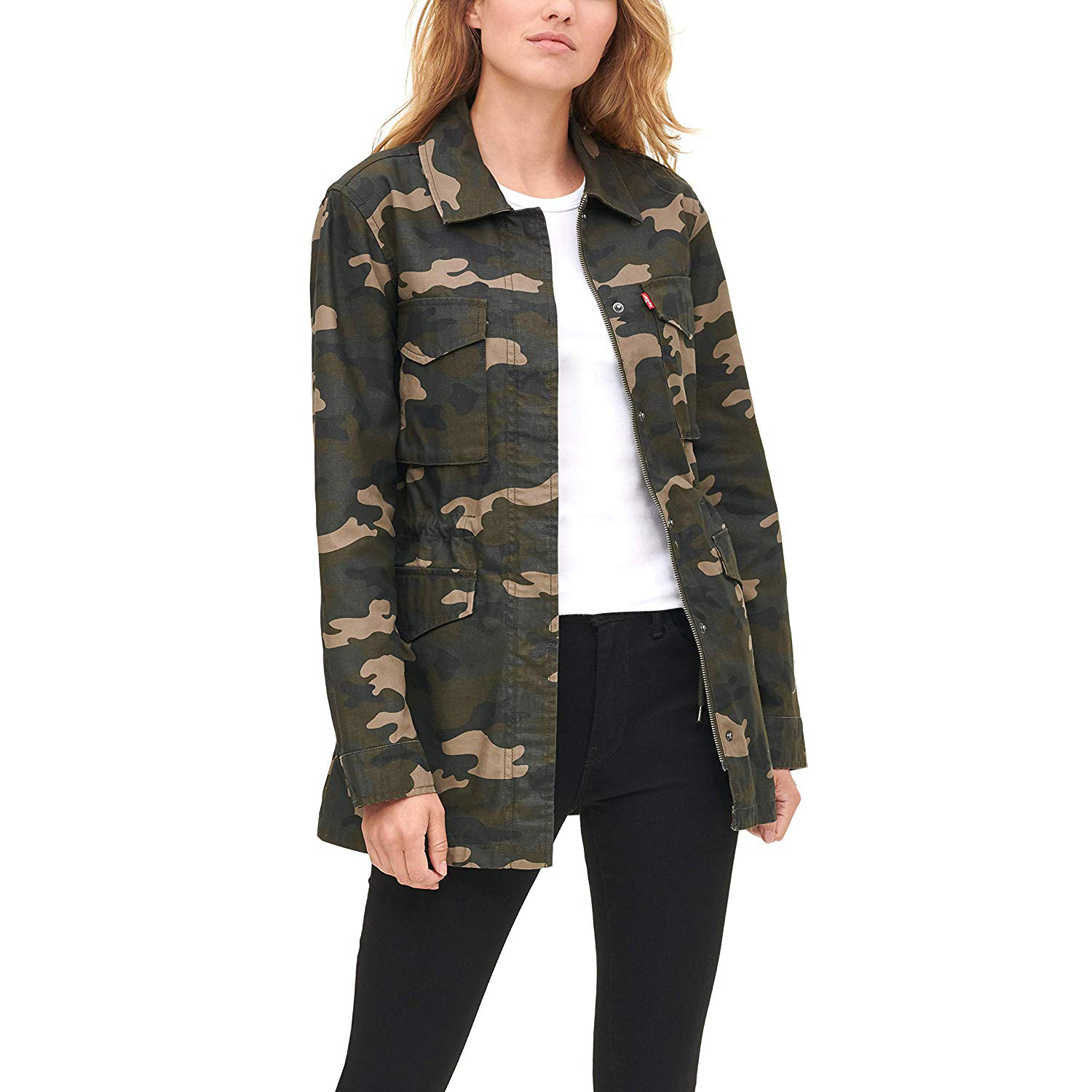 Levi's Women's Cotton Midlength Military Jacket