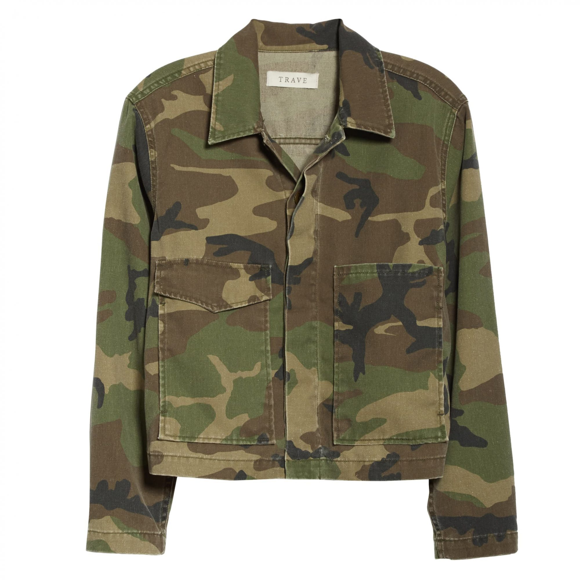 TRAVE Jane Camouflage Denim Utility Jacket