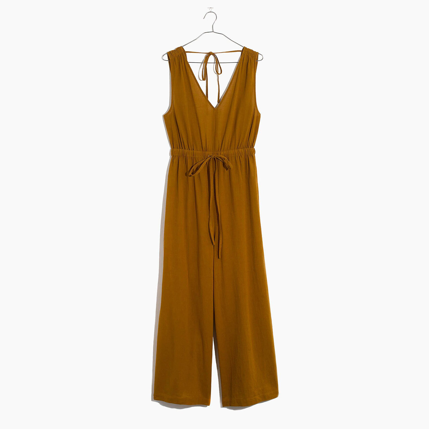 Tie-Back Cover-Up Jumpsuit