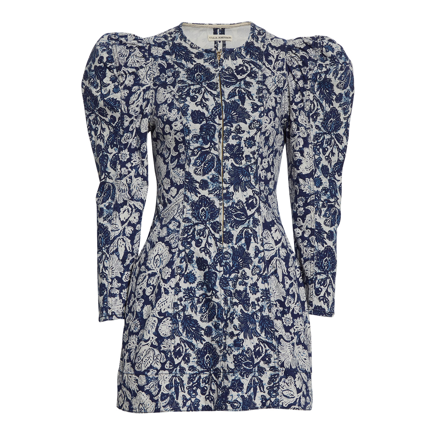 Ulla Johnson Wren Floral Long SLeeve Denim Dress
