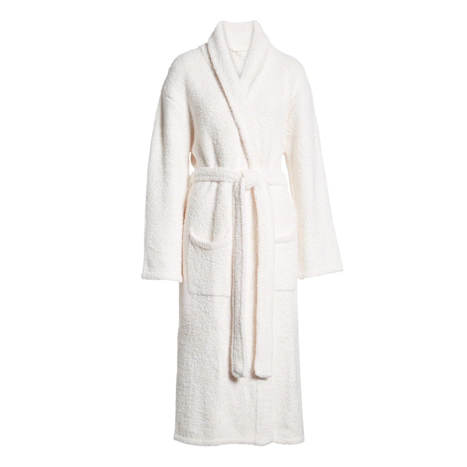 CozyChic Unisex Robe Barefoot Dreams Cream White