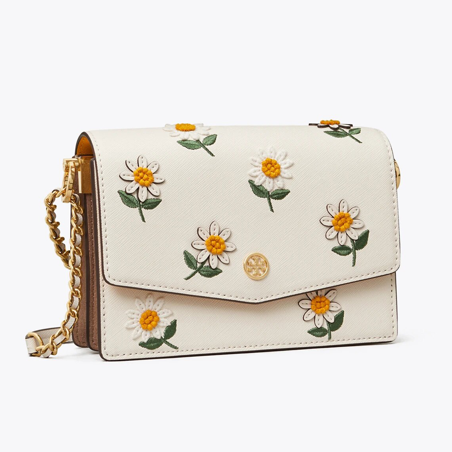 Tory Burch Robinson Embroidered Mini Shoulder Bag