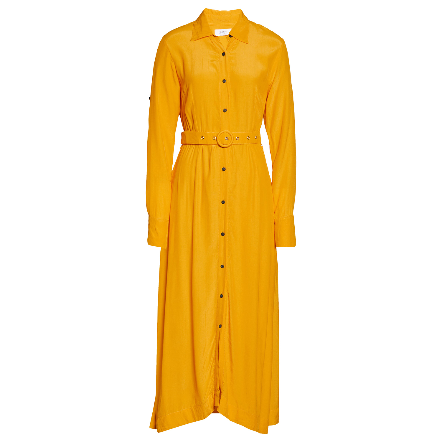S/W/F Passionfruit Long Sleeve Shirtdress