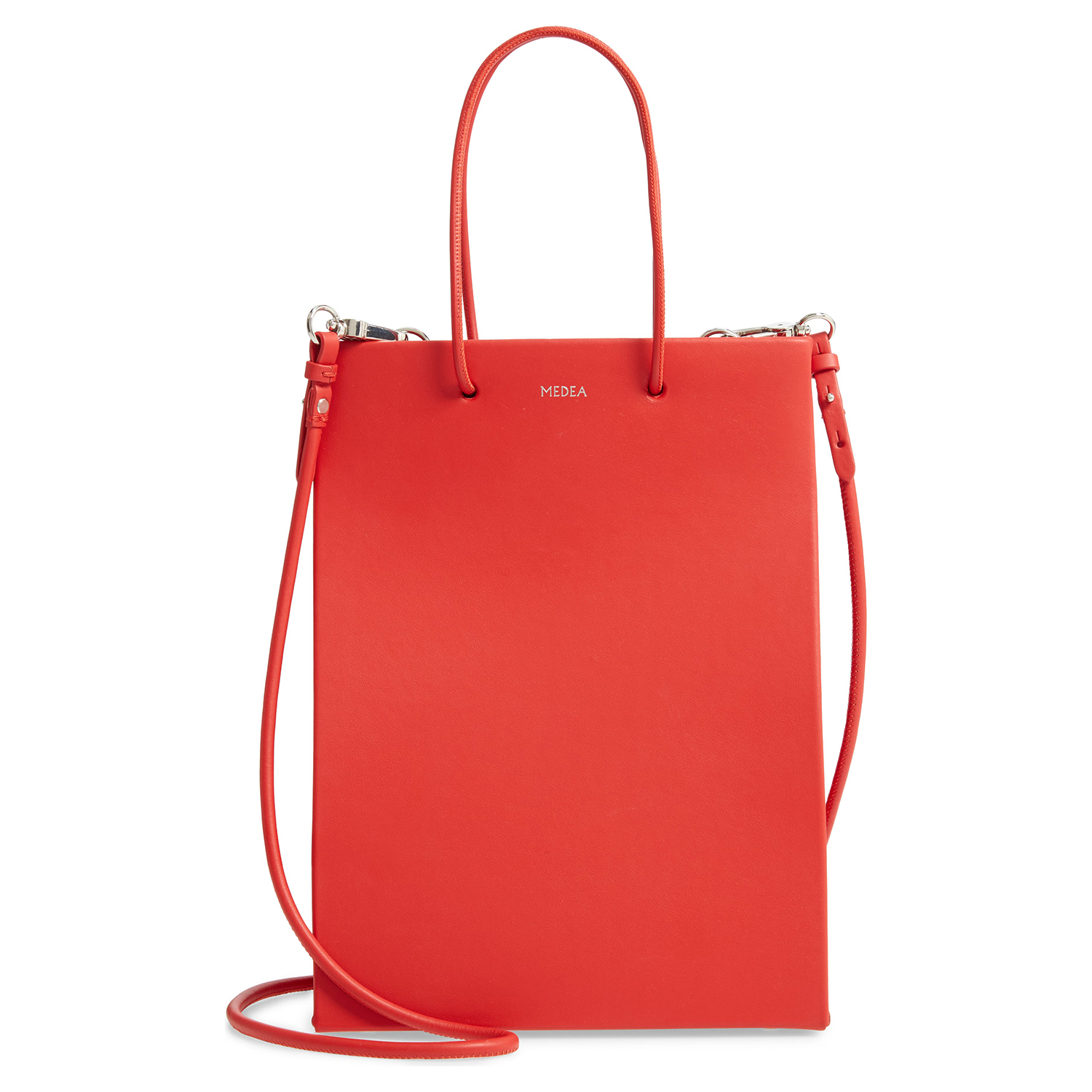 Medea Tall Calfskin Leather Bag