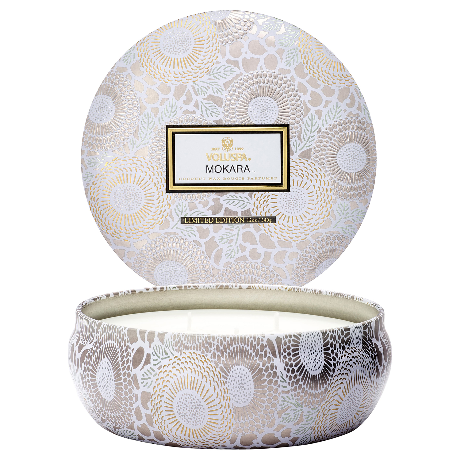 Voluspa Three-Wick Lidded Tin Candle