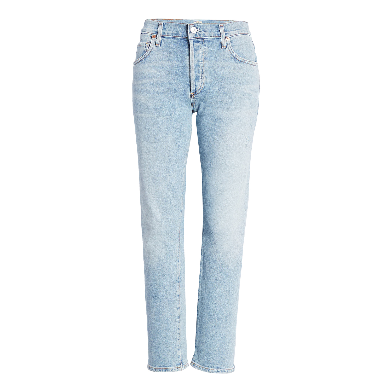 AGOLDE Riley High Waist Crop Straight Leg Jeans