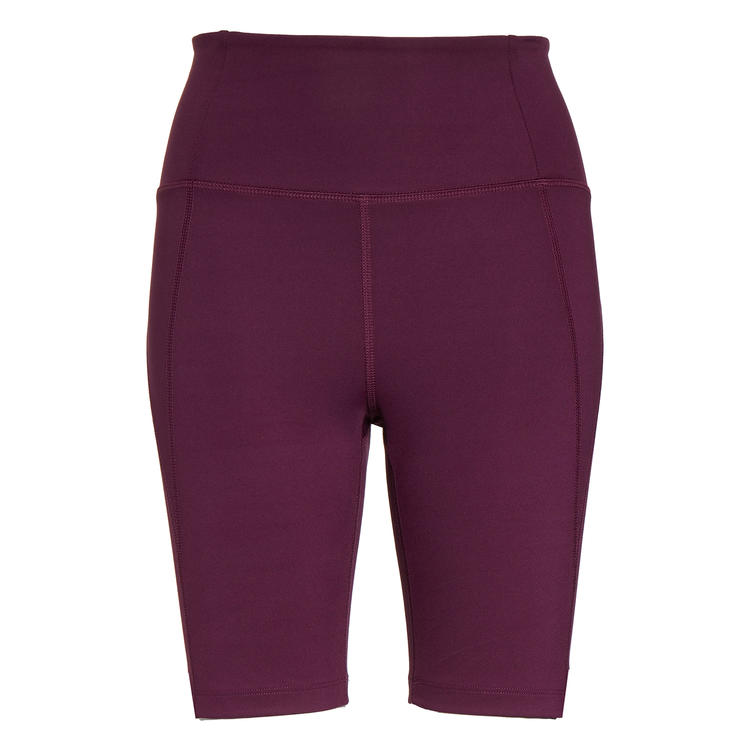 Girlfriend Collection High Waist Bike Shorts Plum